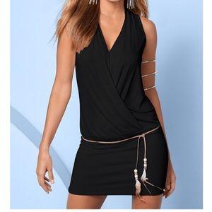 VENUS Banded Bottom Dress W / Belt Sz 8